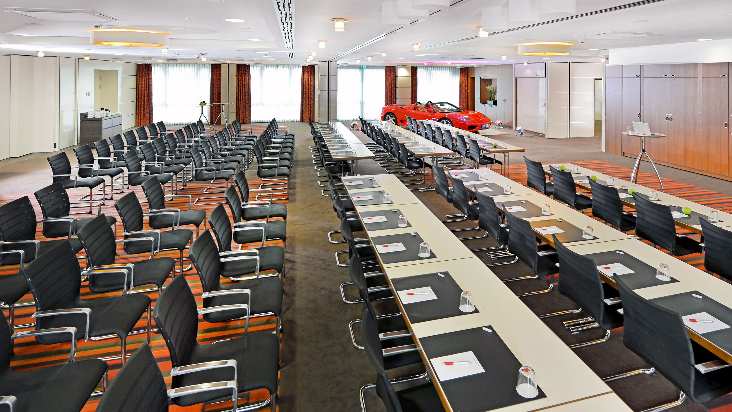 Eight function rooms configurable to meet individual requirements for up to 250 people.